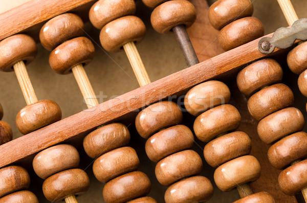 Chinês ábaco negócio dinheiro madeira fundo Foto stock © leungchopan