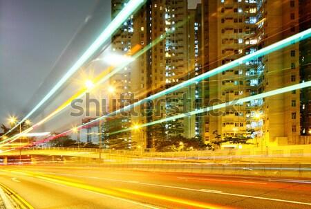 Nowoczesne miejskich Night City niebo biuro budynku Zdjęcia stock © leungchopan