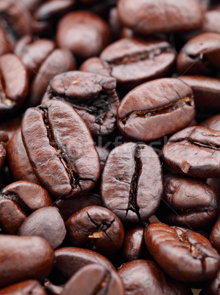 Grão de café beber preto copo líquido fresco Foto stock © leungchopan