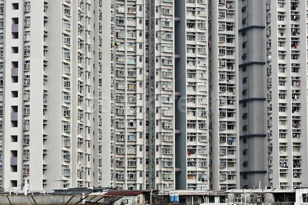 Hong Kong public housing Stock photo © leungchopan