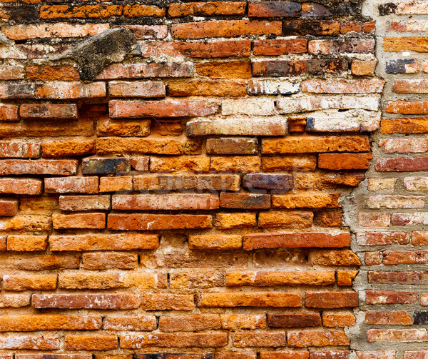 Ancient brick wall in red color Stock photo © leungchopan