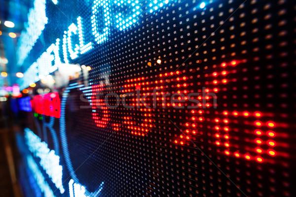 Stock market data on display Stock photo © leungchopan