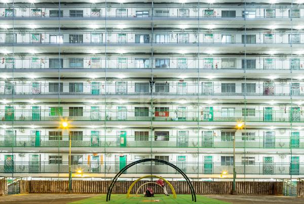 Public estate in Hong Kong at night  Stock photo © leungchopan