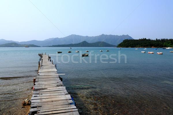 pier and boats Stock photo © leungchopan