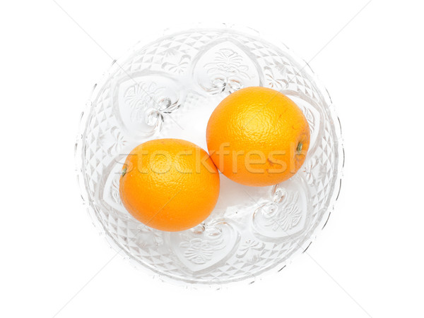 Laranjas vidro soprar laranja grupo alimentação Foto stock © leungchopan