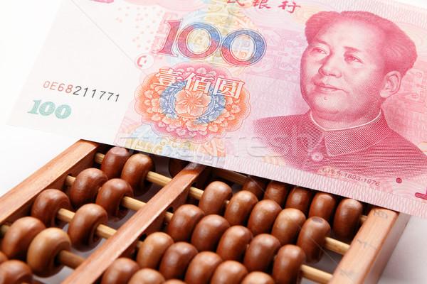 Boulier Chine argent affaires bureau Photo stock © leungchopan
