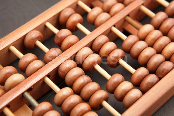 ábaco bar financiar asiático branco ferramenta Foto stock © leungchopan