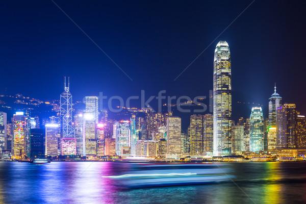 Hong-Kong ville affaires bureau lumière fond Photo stock © leungchopan