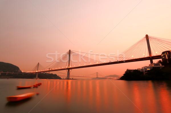 Hong Kong night, Ting Kau Bridge Stock photo © leungchopan
