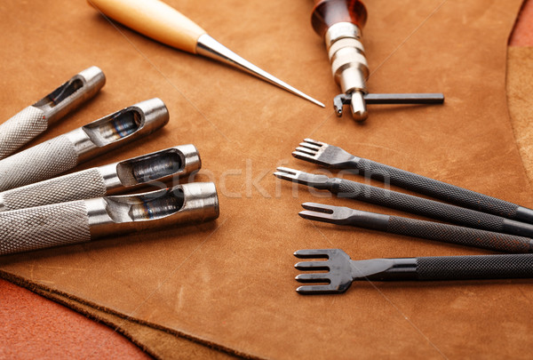 Leather craft hand tool Stock photo © leungchopan