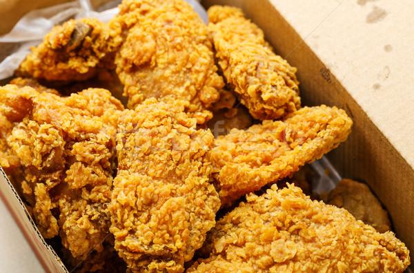 Сток-фото: жареная · курица · далеко · мяса · белый · быстро