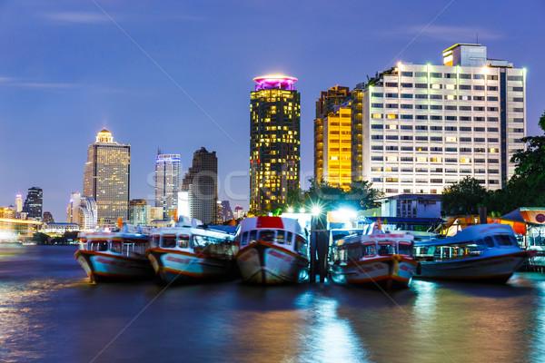 バンコク スカイライン 1泊 ビジネス オフィス 建物 ストックフォト © leungchopan