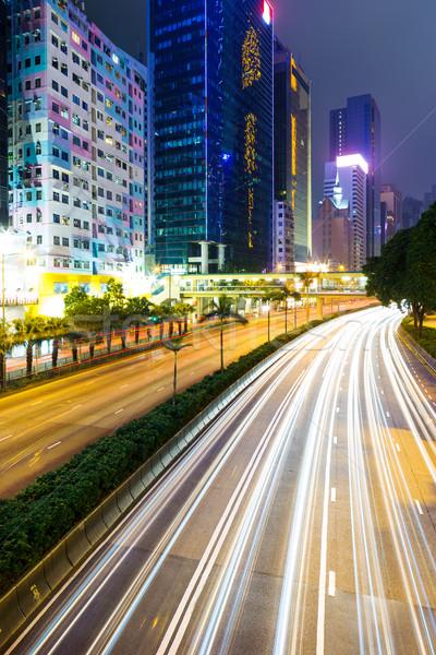 Traffic in Hong Kong at night Stock photo © leungchopan