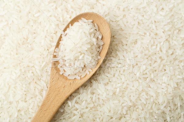 Fehér rizs teáskanál fa tea kanál Stock fotó © leungchopan