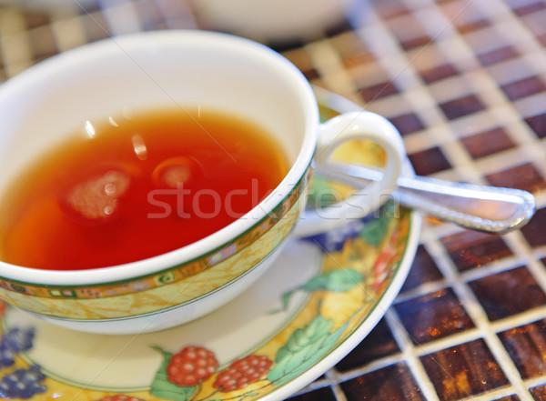 茶 アフタヌーンティー 午後 食品 時間 葉 ストックフォト © leungchopan