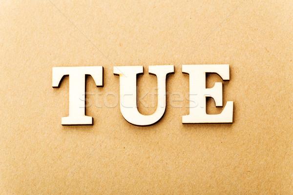 Wooden text for Tuesday Stock photo © leungchopan