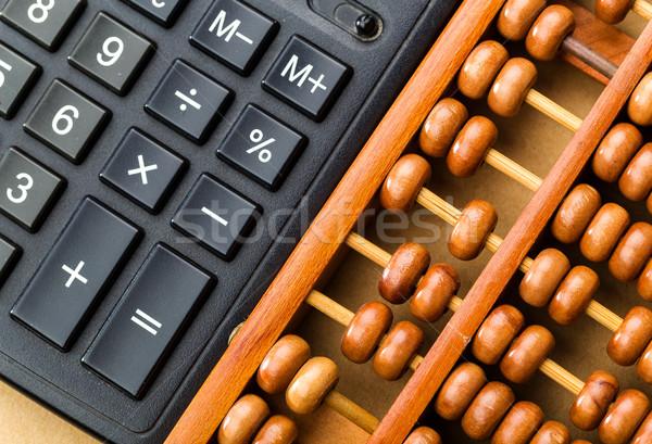 Ancient abacus and modern calculator  Stock photo © leungchopan
