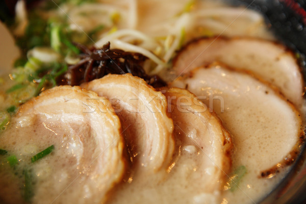 pork in japanese style Stock photo © leungchopan