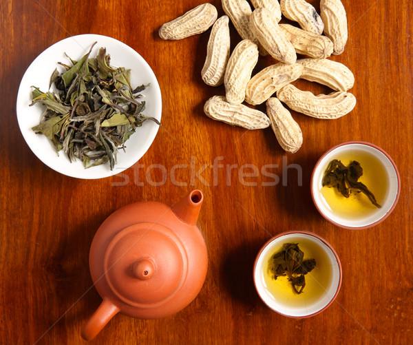 chinese tea with peanut Stock photo © leungchopan