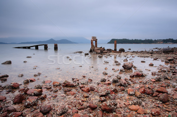 a desolate and broken peer Stock photo © leungchopan