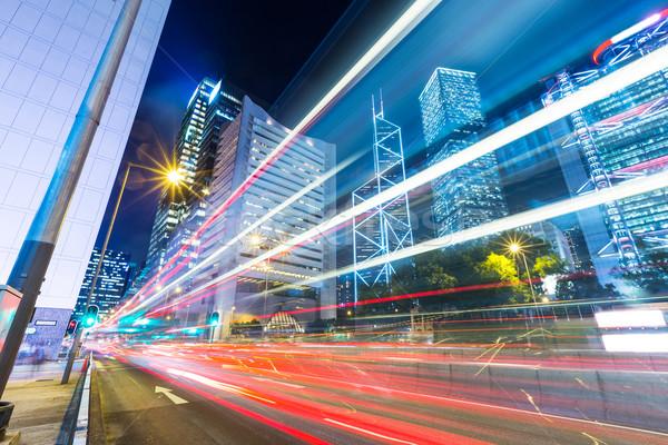 Hong Kong nacht business hemel stad snelweg Stockfoto © leungchopan