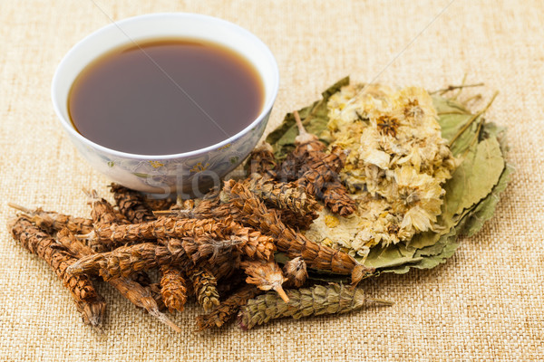 Chinese herbal medicine with ingredient Stock photo © leungchopan