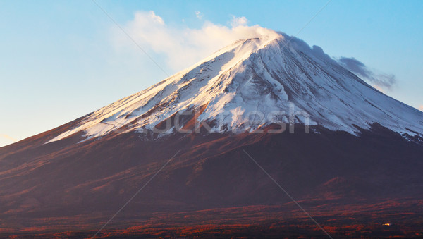 Dağ fuji manzara kar gündoğumu sonbahar Stok fotoğraf © leungchopan