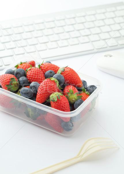 Stockfoto: Bes · lunch · vak · werken · bureau