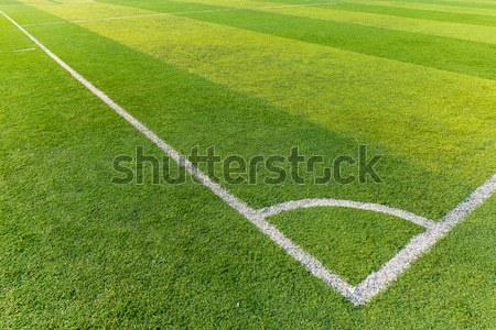 футбольное поле трава текстуры спорт футбола области Сток-фото © leungchopan