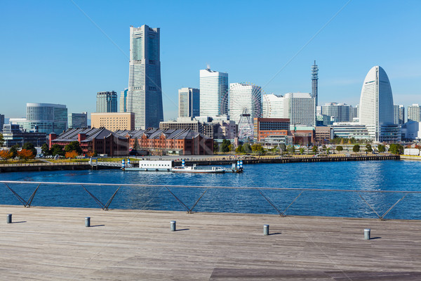 Иокогама Skyline Япония здании город морем Сток-фото © leungchopan