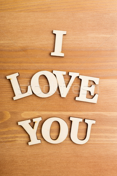 Wooden letters forming phrase I Love You Stock photo © leungchopan