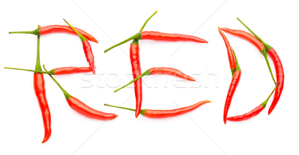 Hot spelt with chili peppers  Stock photo © leungchopan