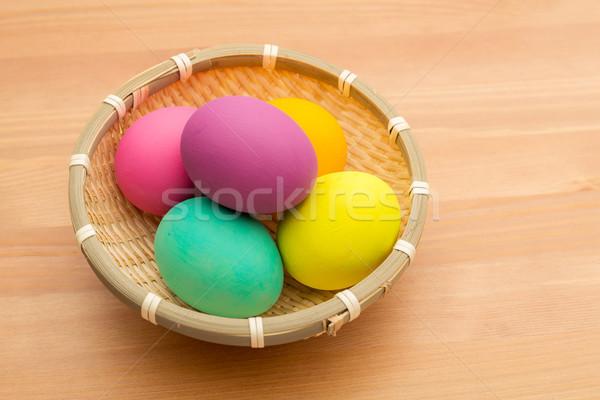 Stock fotó: Húsvéti · tojás · kosár · húsvét · textúra · étel · festék