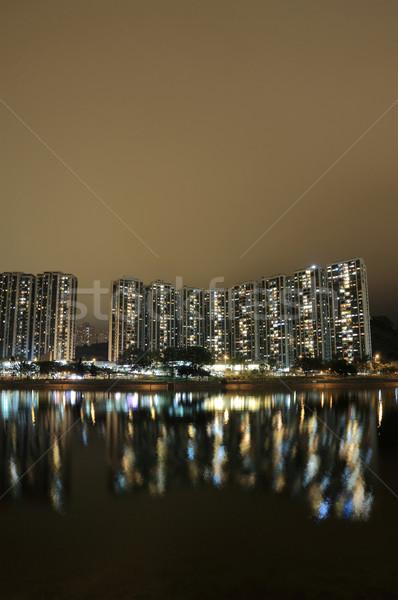Hong Kong public house and river Stock photo © leungchopan