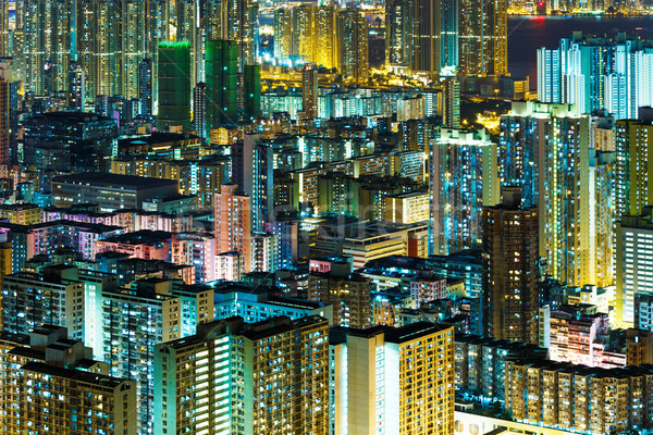 Kowloon downtown at night Stock photo © leungchopan