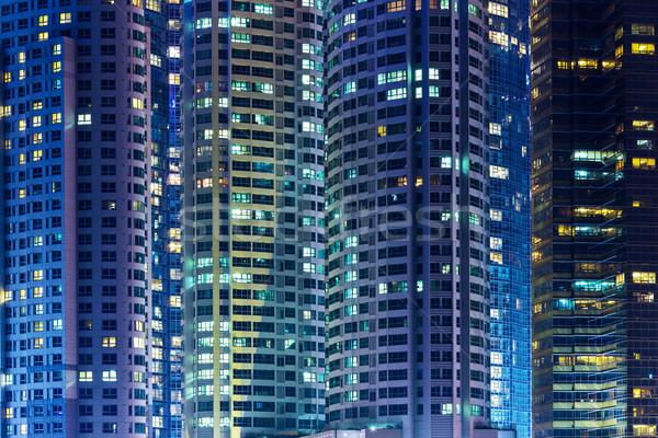 Modern bina gece iş ofis Bina ışık Stok fotoğraf © leungchopan