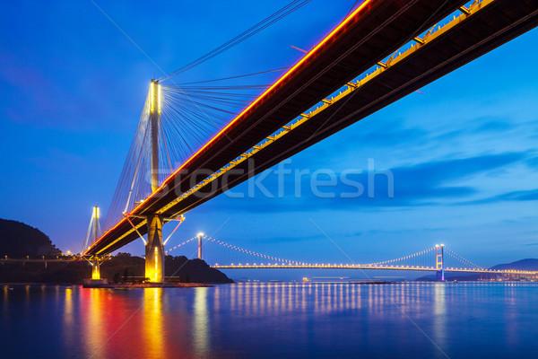 吊り橋 香港 1泊 水 建物 風景 ストックフォト © leungchopan