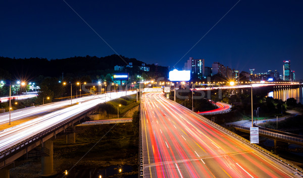 Busy traffic in Seoul Stock photo © leungchopan