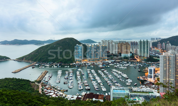 Typhoon shelter in Hong Kong  Stock photo © leungchopan