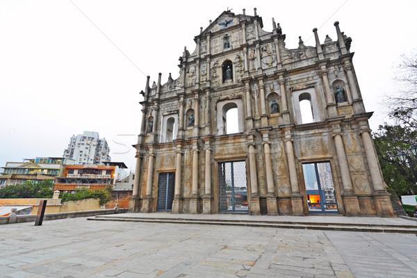 Katedrális szent Sao Paulo templom épület építkezés Stock fotó © leungchopan