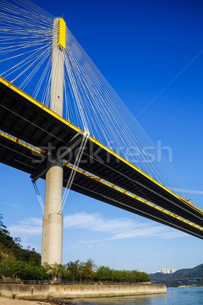 Ting Kau suspension bridge in Hong Kong Stock photo © leungchopan