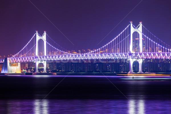 Photo stock: Pont · suspendu · eau · route · paysage · pont · autoroute