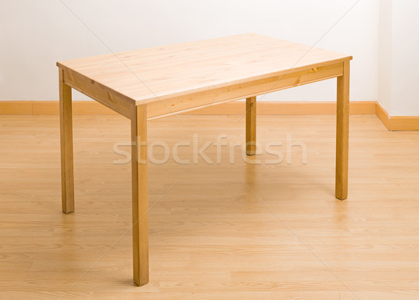 Wooden table in new house Stock photo © leungchopan