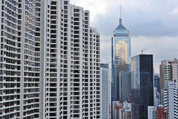 Hong Kong buildings Stock photo © leungchopan