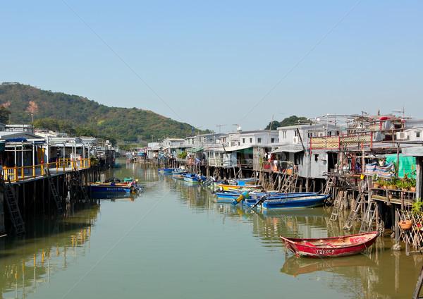 Tai O fishing village in Hong Kong Stock photo © leungchopan