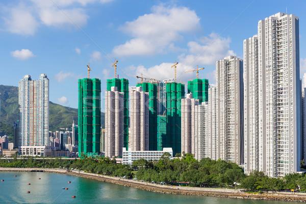 Residencial edificio Hong Kong agua océano horizonte Foto stock © leungchopan