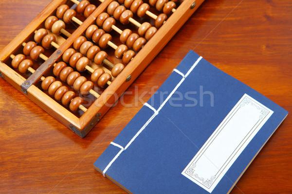 Chinois livre boulier écrit brosse table Photo stock © leungchopan