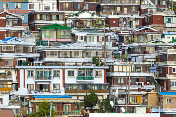 Residential area in Seoul Stock photo © leungchopan