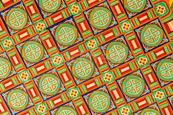Ceiling decoration in Korean traditional architecture  Stock photo © leungchopan