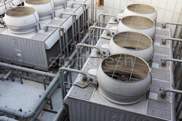 Ventilation systems on roof top Stock photo © leungchopan